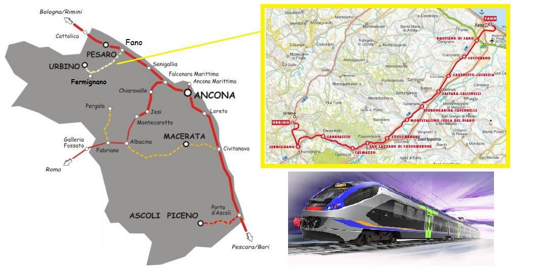 Riattivazione tratta Fano-Urbino