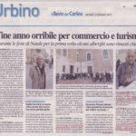 Urbino fine anno orribile per turismo e commercio